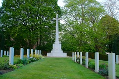 Ramparts Cemetery Ypres Cross of Sacrifice.
