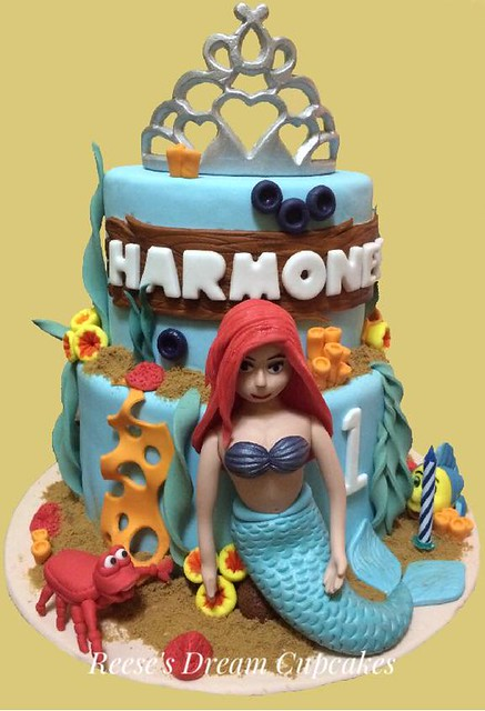 Mermaid Themed Cake by Reese's Dream Cupcakes