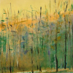 Ken Elliott; Descending Trees I; Monotype with chine-colle; 2004 -