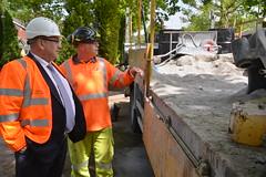 Cabinet Member Colin Kemp visits Pavement Horizon scheme