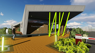 Tourist Centre post life of mine rendering
