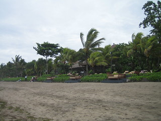 The beach in front of THE LEGIAN in Bali