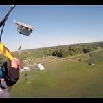 Proximity Parachute Flying On Landing