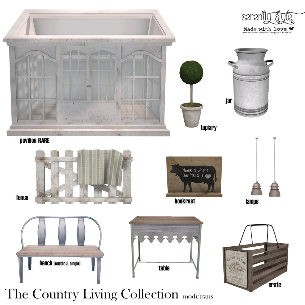 Serenity Style- The Country Living gacha - SecondLifeHub.com