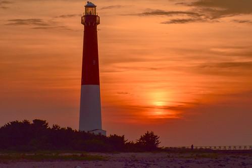 sunset lbi longbeachisland nj newjersey barnegatlighthouse
