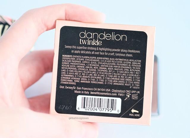 Benefit Cosmetics Dandelion Twinkle3