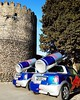 When Red Bull meets antiquity.  - - - #kakheti #georgia #instageorgia #easterngeorgia #redbull #wingsforlife #wodrun #tower #architecture #archilovers #oldarchitecture #wall #oldbuilding #castle #fortress #redbullcar #minicooper #morning #morningglory #su