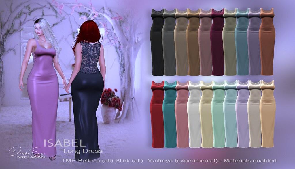 Isabel Long Dress - SecondLifeHub.com