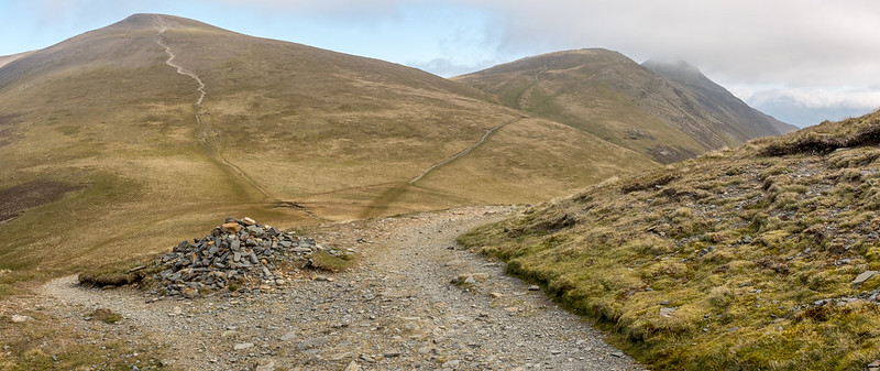 Sand Hill and Grisedale Pike from Coledale Hause
