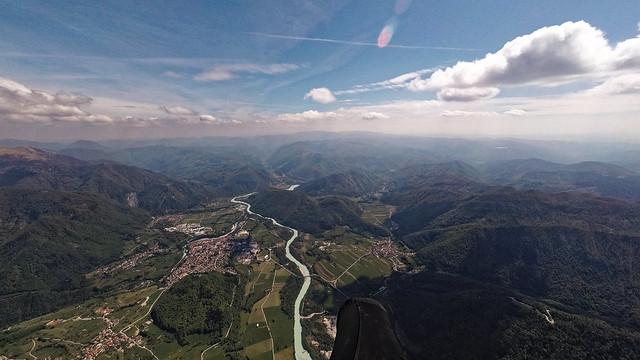 Wysoko nad doliną Socy
