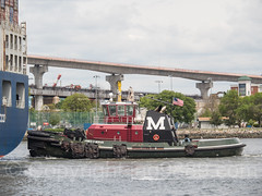 James D Moran Tugboat on Kill van Kull, Bayonne, New Jersey