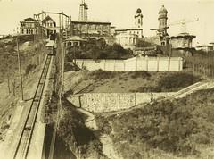 Vista del funicular i del Parc d'Atraccions