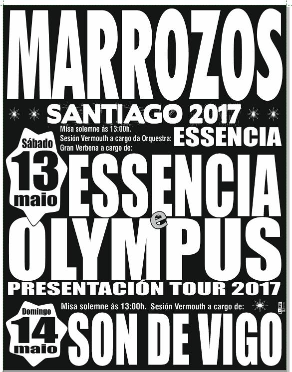 Santiago de Compostela 2017 - Festas en Marrozos - cartel