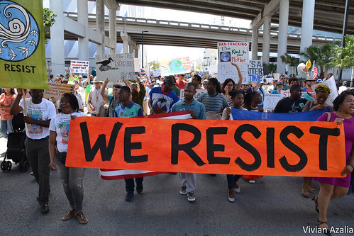 Entering downtown Miami, Haitian community leads Climate March.