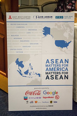 Event Poster featuring cover of ASEAN Matters for America/America Matters for ASEAN