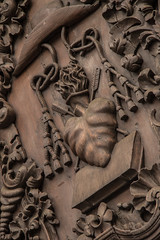 San Agustin Church: Door Carving II