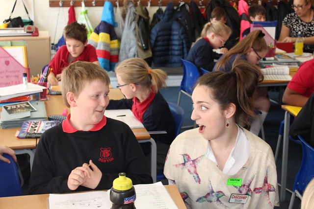 Thurrock Trailblazer Cultural Partner inspiring creative writing in the classroom. © Brian Slater