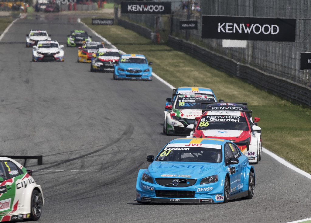 61 GIROLAMI Nestor (arg) Volvo S60 Polestar team Polestar Cyan Racing action during the 2017 FIA WTCC World Touring Car Race of Italy at Monza, from April 28 to 30  - Photo Gregory Lenormand / DPPI