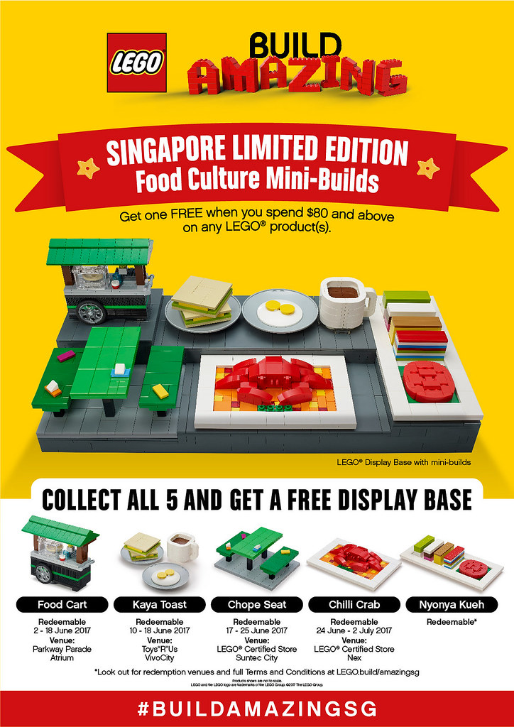 用樂高建構出獨特的飲食文化吧!!「新加坡限定」【Food Culture Mini-Builds】 六月登場!!