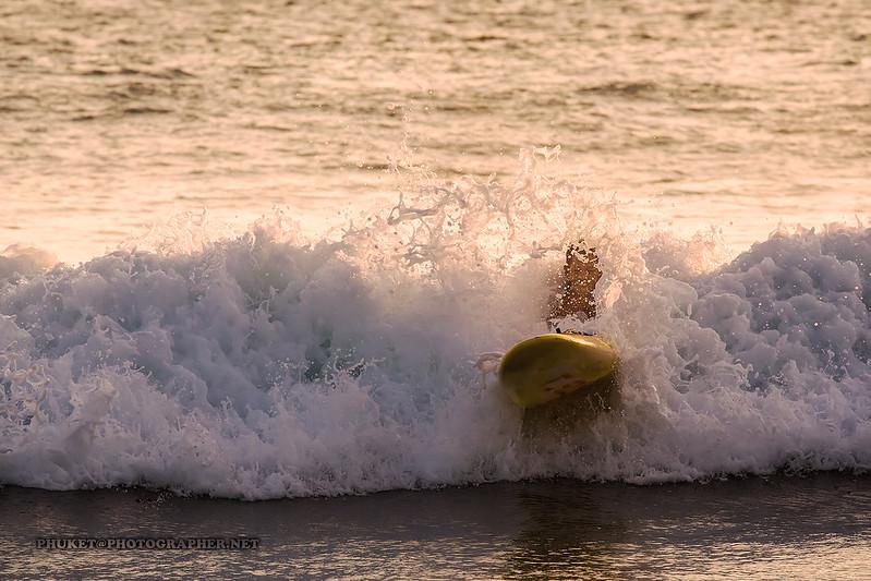 Waves at Nai Harn beach, Phuket island, Thailand