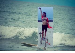 Somebody surfing at Baler