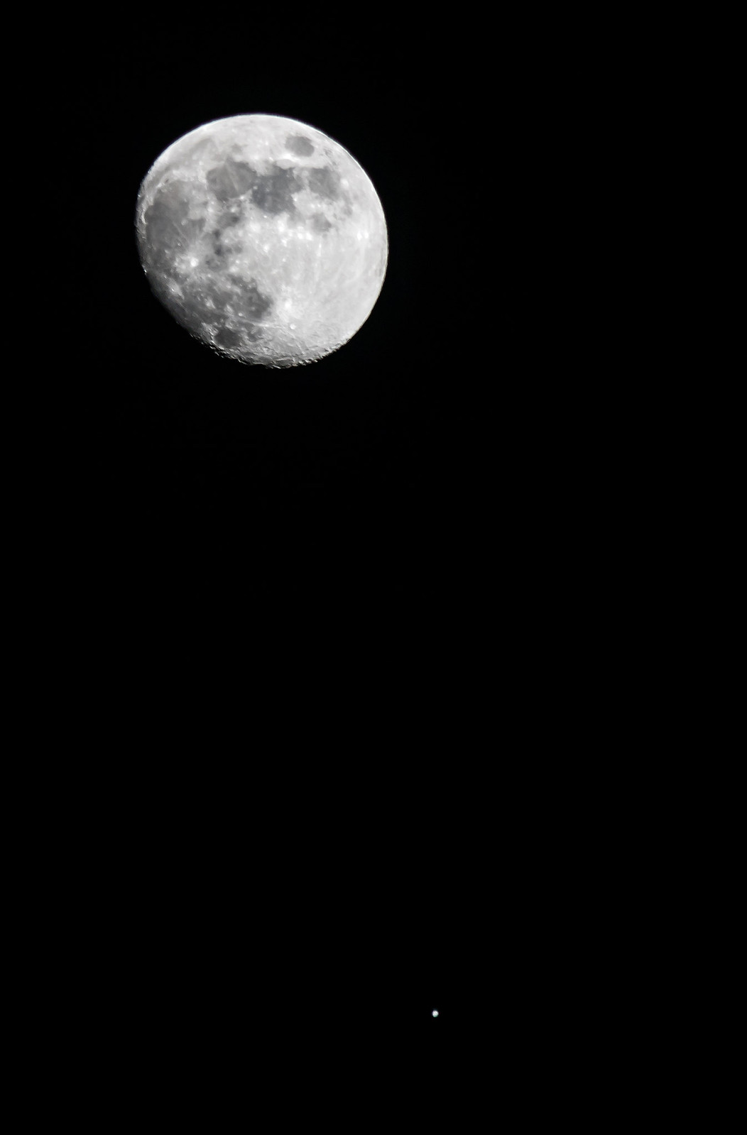The Moon and Spica, Canon EOS 760D, Canon EF 70-300mm f/4.5-5.6 DO IS USM