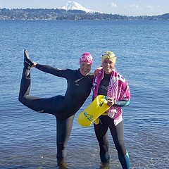 Where in the world is the New Wave Swim Buoy now? Magnuson Park, Seattle, Washington . . . #Repost @rose_filer with @repostapp ・・・ We were a tad overdressed for our swim this afternoon. The lake has FINALLY started to warm up and is up to 50°F! Time to st