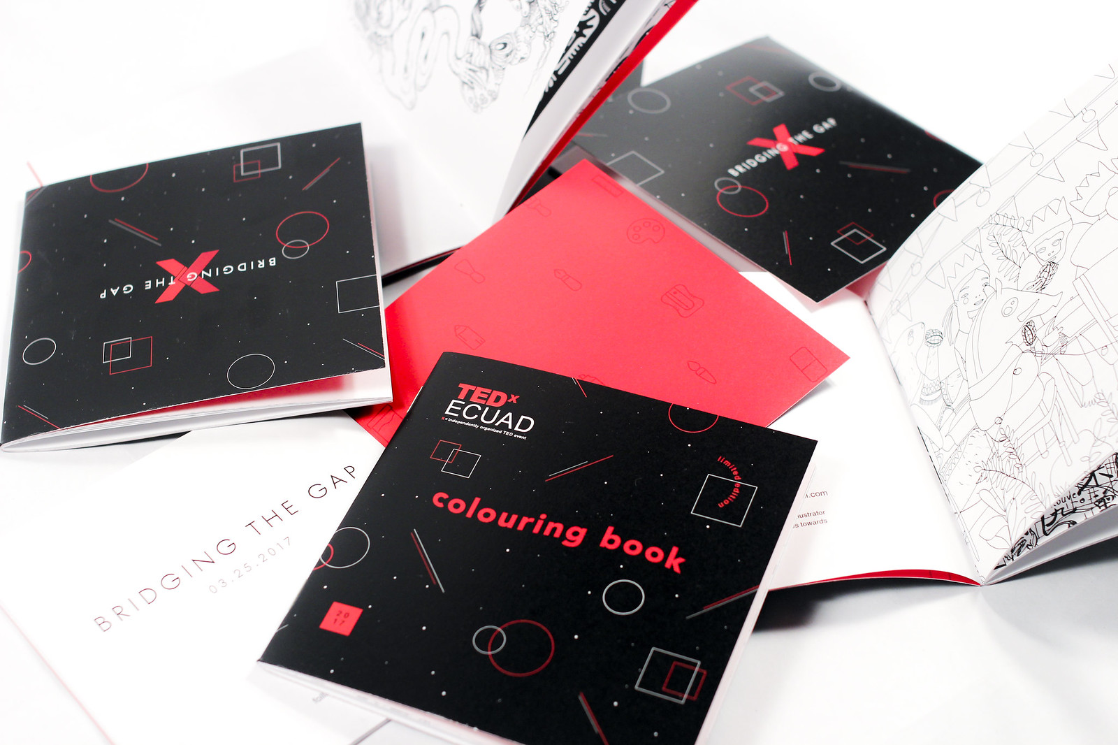 TEDxECUAD 2017 Communication, Design, Swag Material