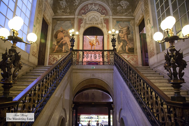 Grand staircases leading to the third floor