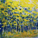Ken Elliott; Yellow Catching the Light; Monotype with chine-colle; 2012 -