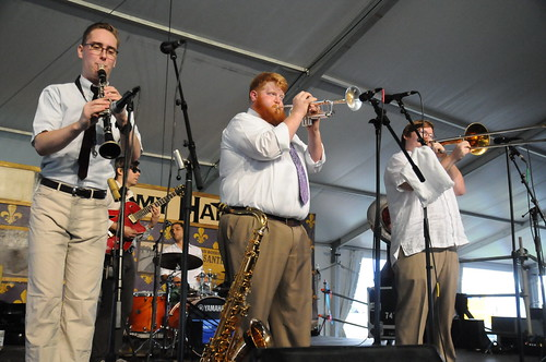 Doyle Cooper Jazz Band in Economy Hall Tent on Day 4 of Jazz Fest - May 4, 2017. Photo by Black Mold.