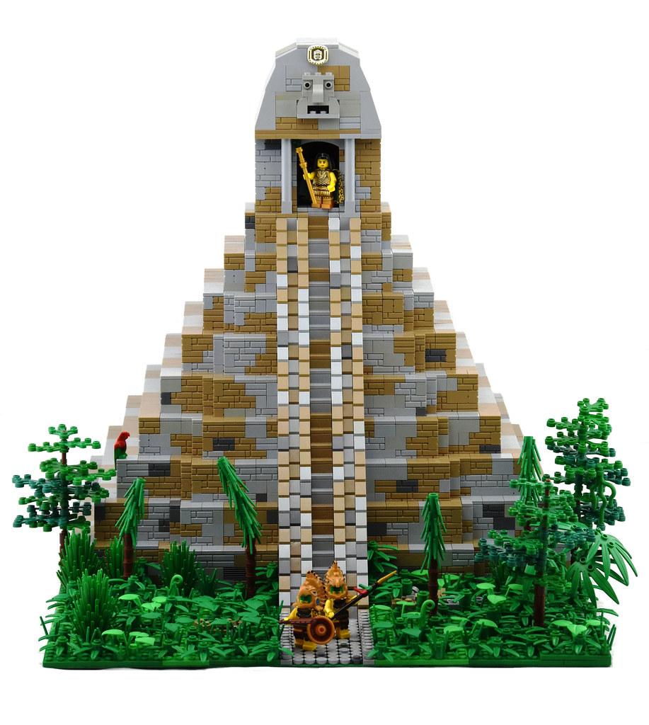 Myzec Jungle Temple (custom built Lego model)