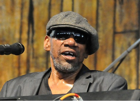 Henry Butler in the Blues Tent on Day 6 of Jazz Fest - May 6, 2017. Photo by Black Mold.