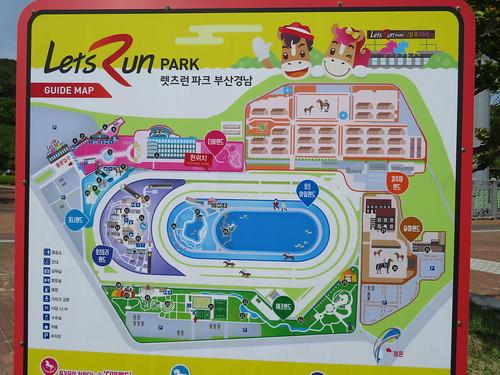 釜山慶南競馬場のマップ
