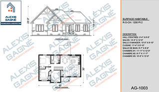 Plan de maison 1 étage - MM1e.02