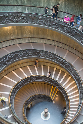 spiral staircase @ Vatican Museum