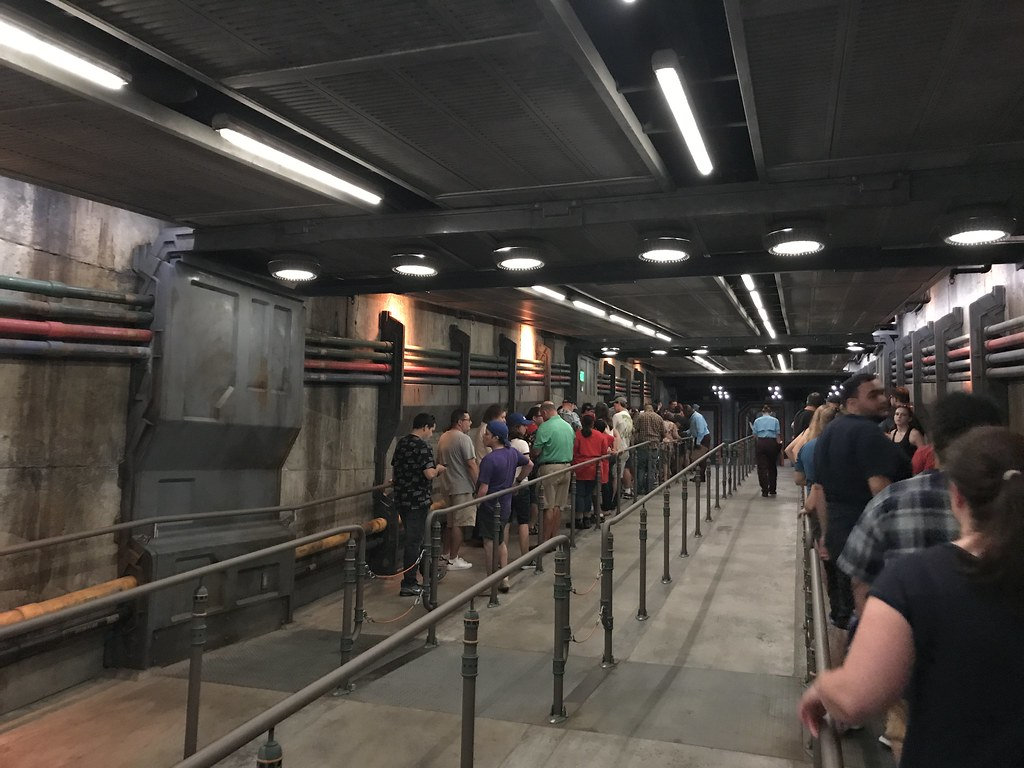 The waiting area for the decontamination/matching rooms at Flight of Passage.