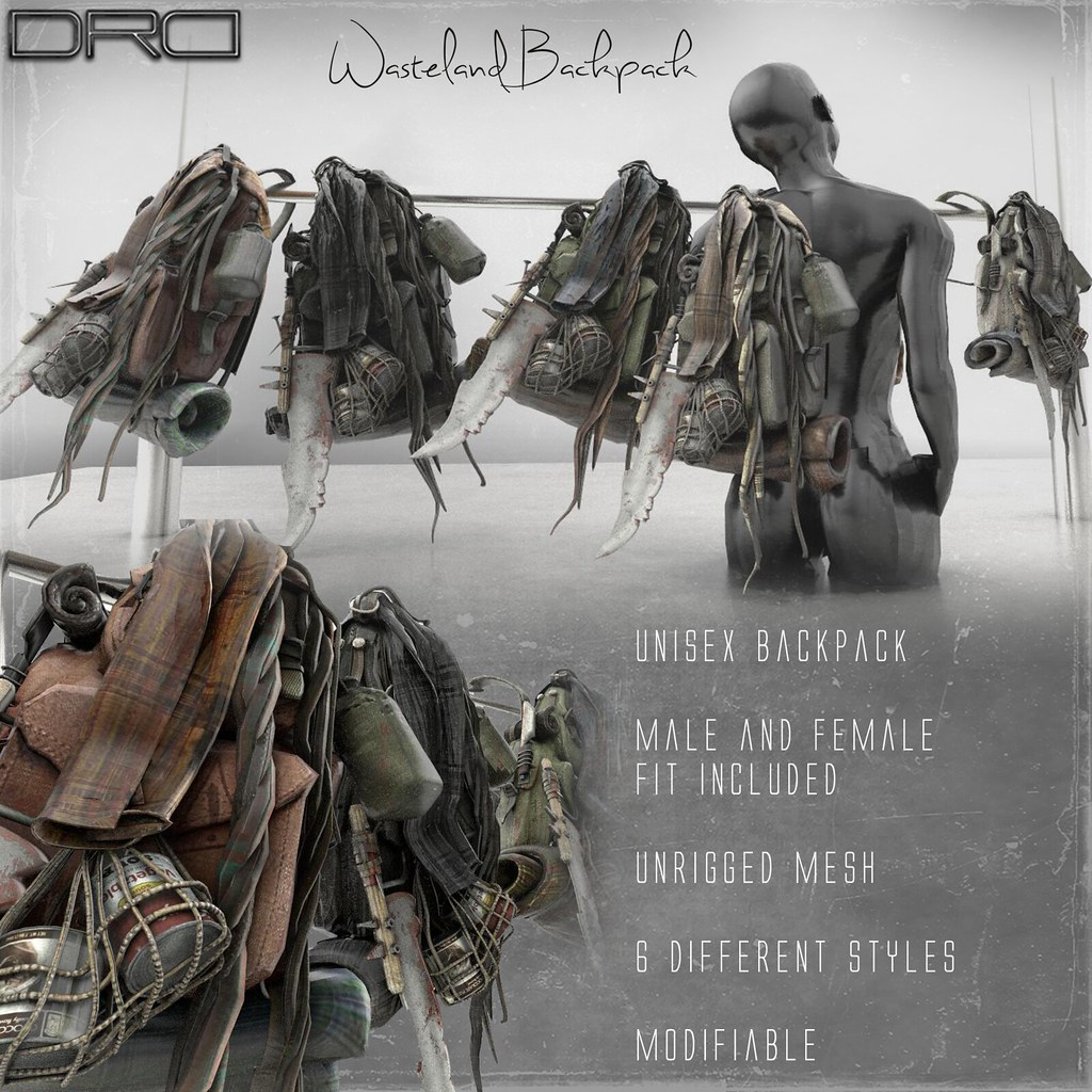 DRD wasteland backpack - SecondLifeHub.com