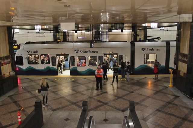 Link train at Westlake Station