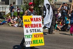 All wars murder and steal, they never ever heal - Minneapolis MayDay Parade 2017