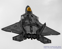 LOOKING UP AT GOING UP F-22