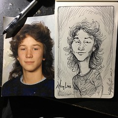 A #penandink #sketch of a young me @larserarts
