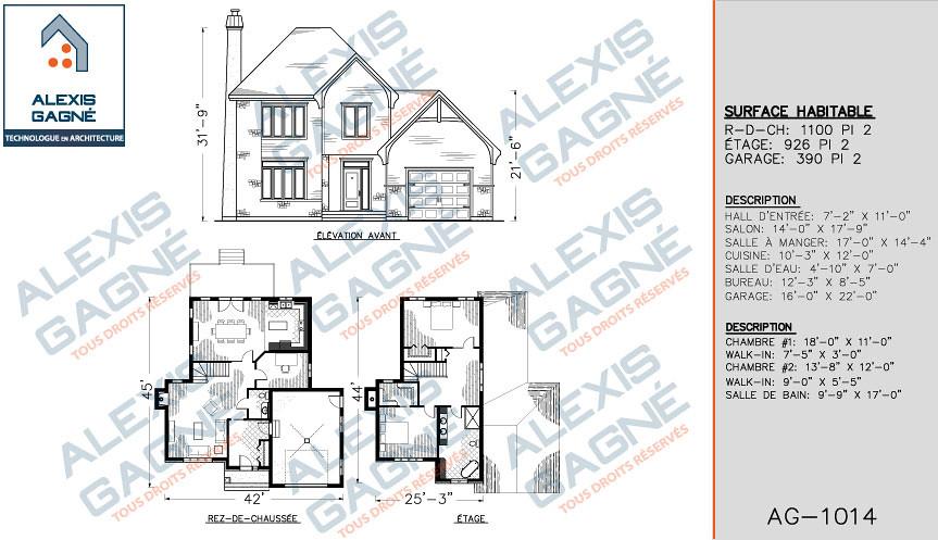 Maison 2 Etage Maison 2 Etagesavec Garage Alexis Gagne Technologue En Architecture