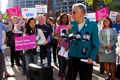 Cook County Board President Toni Preckwinkle Protesting Trumpcare Chicago 5-11-17 6271