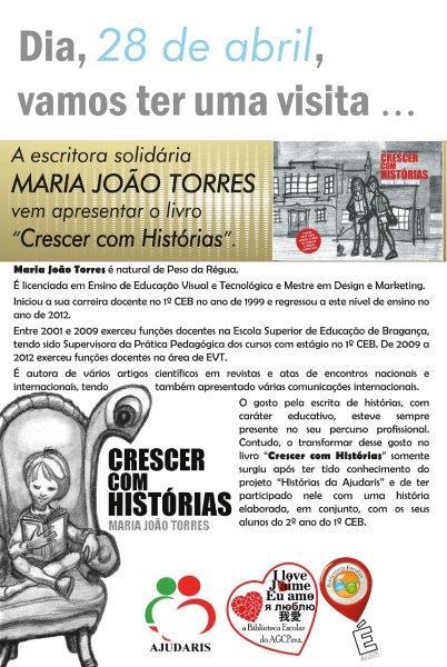 Hoje, temos a visita... AJUDARIS Maria João Rodrigues