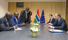 President Tusk meets Adama Barrow, President of Gambia