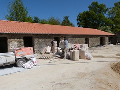 Visite d'un chantier de projection de Béton de Chanvre - 21/04/17