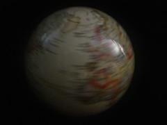 a turned globe HMM!