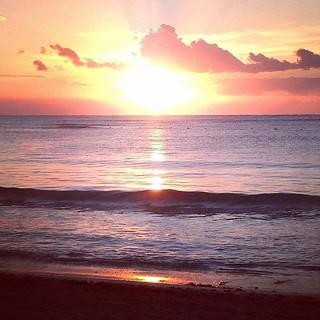 Sunset at Myrtle Beach, SC. #BeautifulDestinations #myrtlebeach #southcarolina