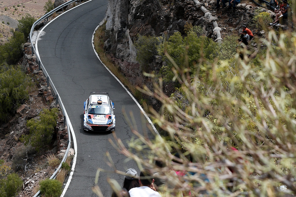 11 SURHAYEN PERNIA CALDERON Alejandro (ESP), DEL BARRIO  CORRAL (ESP), Hyundai  i20 R5, Action during the 2017 European Rally Championship ERC Rally Islas Canarias, El Corte Inglés,  from May 4 to 6, at Las Palmas, Spain - Photo Alexandre Guillaumot / DPPI